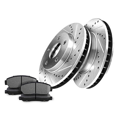 Front Drilled And Slotted Rotors Kits