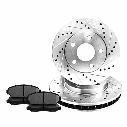 Rear Drilled And Slotted Rotors Kits