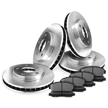 Front and Rear OEM Rotors Kits