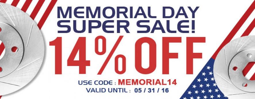 Memoriable Day Sale